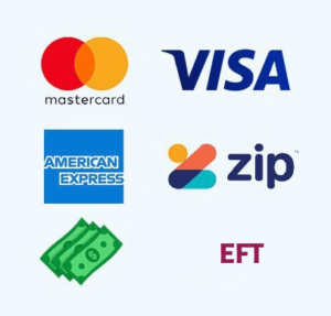 We accept all major credit cards and other payment options available