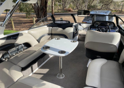 Interior detail on a client's 21ft Malibu 2014 Wakesetter VLX in Brighton